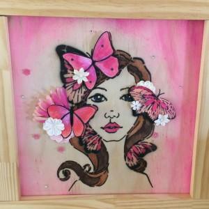 pink bloom girl